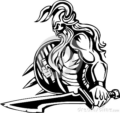 Nordic viking - vector illustration. Vinyl-ready.