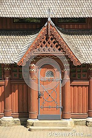 Nordic wood church