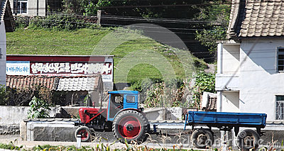 Nordkoreanische Dorflandschaft Redaktionelles Stockfotografie