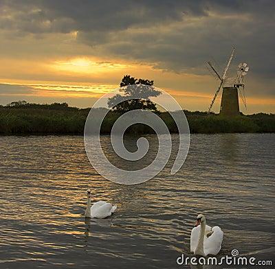 Free Norfolk Broads - United Kingdom Royalty Free Stock Image - 20951106