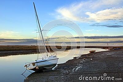 Norfolk coastal marshes at dusk - England
