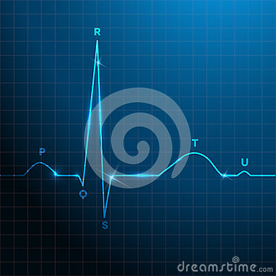 Normal Heart Rhythm Blue Background Design Stock Images ...