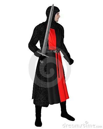 Free Norman Knight In Black Chainmail Royalty Free Stock Photography - 13658667