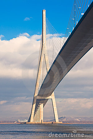 Normandy bridge view (Pont de Normandie, France)