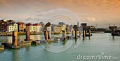 Normandy, harbor in dieppe city