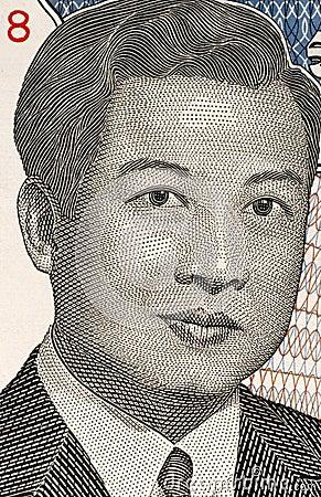 Norodom Sihanouk Redaktionell Arkivbild