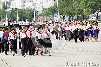 Norr korea 2011 Redaktionell Fotografering för Bildbyråer