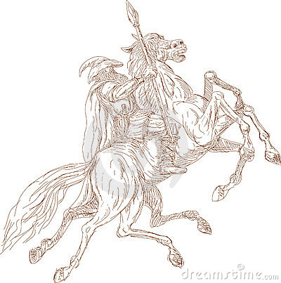 Free Norse God Odin Riding Horse Stock Photography - 12500422