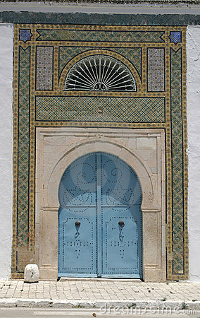 North African architecture - blue doors