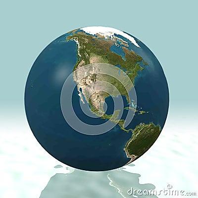 North America 3D Globe