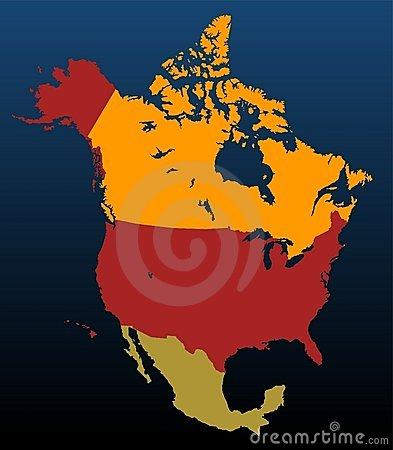 North America (coloured)