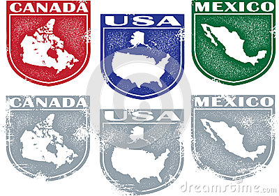 North America Country Stamps