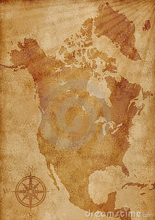 North America map illustration