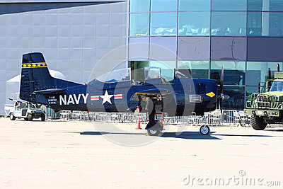 North American T-28 Trojan on display - Hamilton SkyFest 2014 Editorial Image