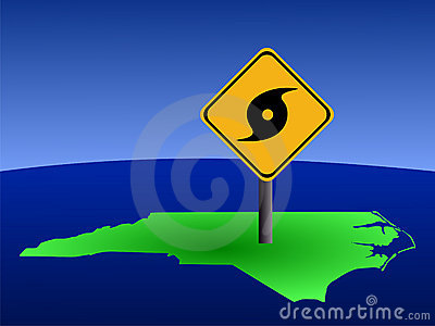 North Carolina hurricane sign
