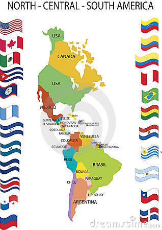 North Central South America.