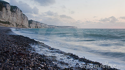 North coast of France. Sunset