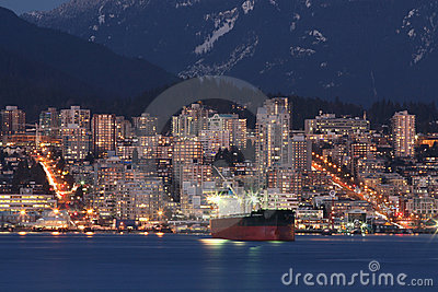 North Coastal Cityscape Royalty Free Stock Images - Image: 6899179