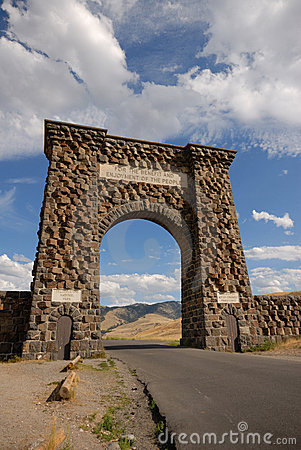 North Entrance of Yellowstone NP.