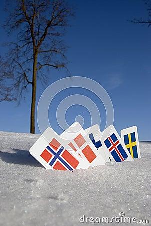 North Europe country symbols
