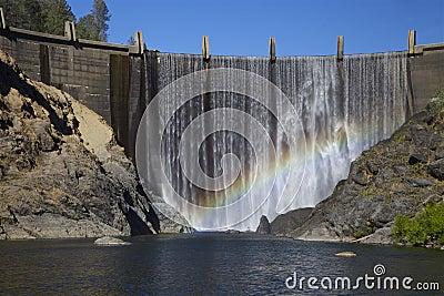 North Fork Dam with Rainbow