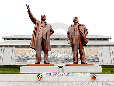 North Korea Kim Il Sung Square Editorial Photography
