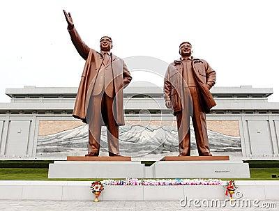 North Korea Kim Il Sung Square Editorial Photography