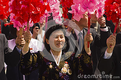 North Korea People Editorial Stock Image