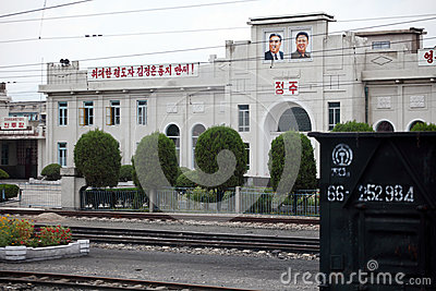 North korea s train station 2013 Editorial Photography