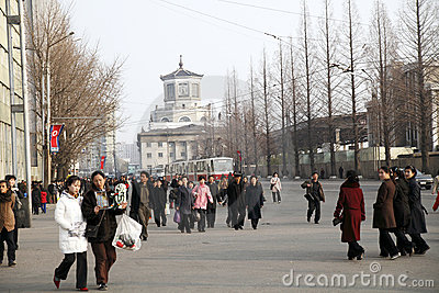 North korea streetscape Editorial Photo