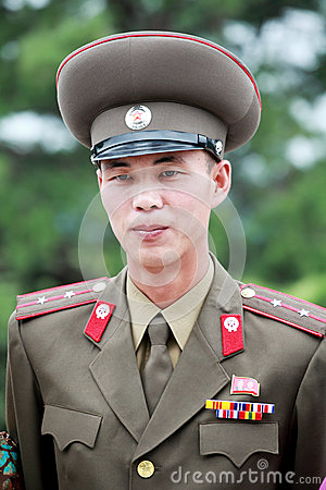 North Korean army officer Editorial Stock Image