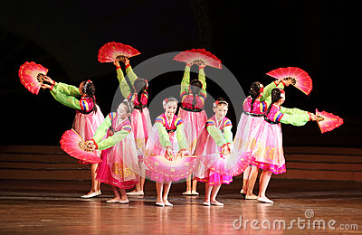 North Korean dancing Editorial Image