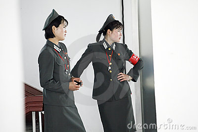 North korean female soldiers Editorial Stock Image
