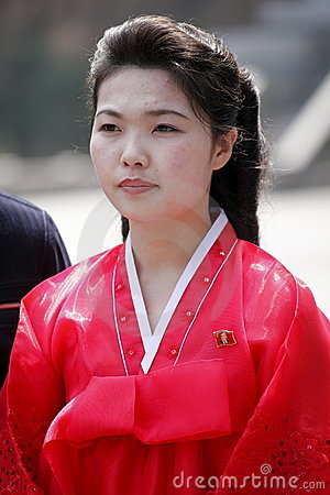 North Korean girl Editorial Stock Image