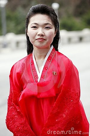 North Korean girl Editorial Stock Photo