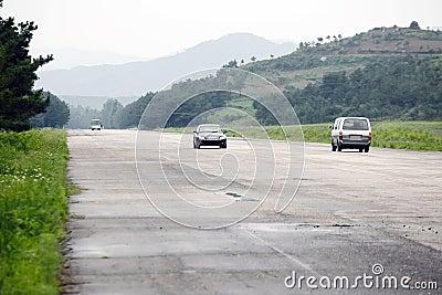 North korean highway