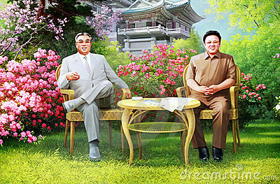 North Korean leaders Editorial Photography