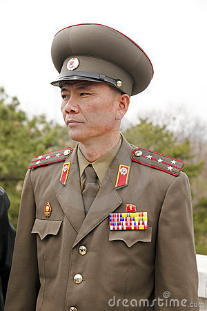 North Korean military officer Editorial Image