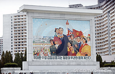 North korean political posters Editorial Photography