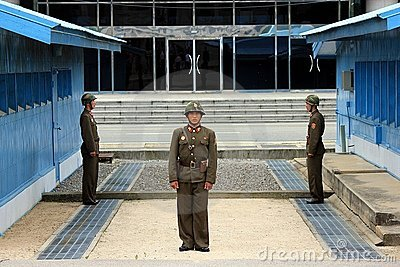 North Korean soldiers in the DMZ Editorial Photography