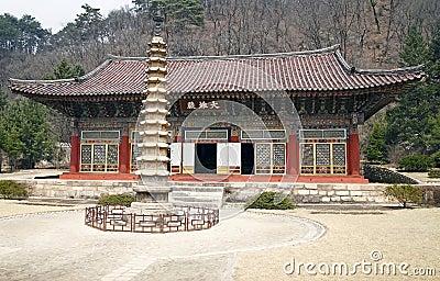 North Korean temple