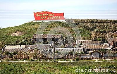 North korean village Editorial Image