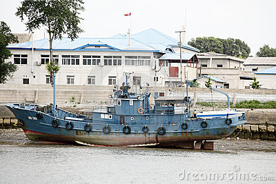 North korean wharf  Editorial Stock Photo
