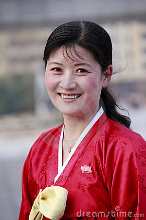 North Korean woman Editorial Stock Photo