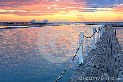 North Narrabeen Ocean Rock Pools at sunrise