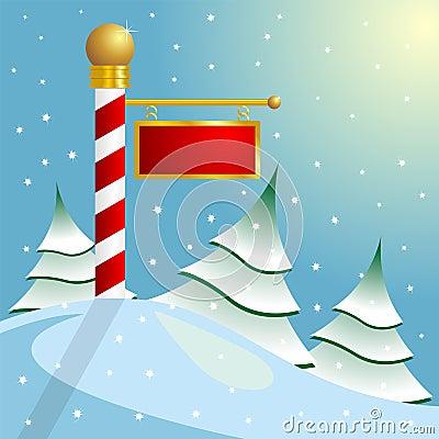 North Pole sign