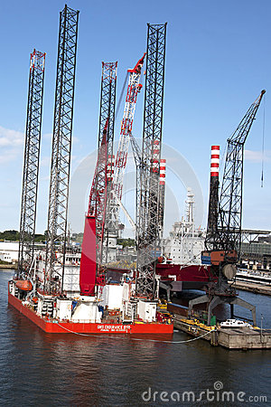 North Sea Platform in Dock Editorial Image