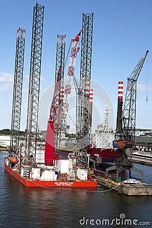 North Sea Platform in Dock