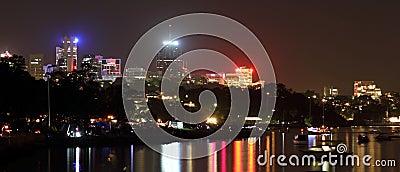 North Sydney skyline at night