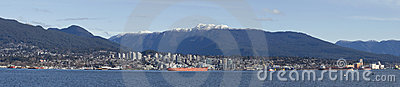 North Vancouver over the Vancouver bay.